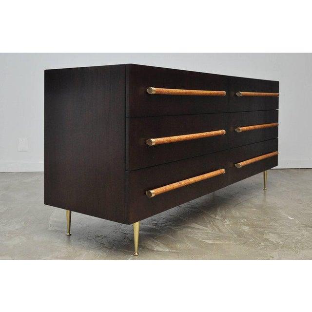 Gold T.H. Robsjohn-Gibbings Dresser with Brass Legs For Sale - Image 8 of 8