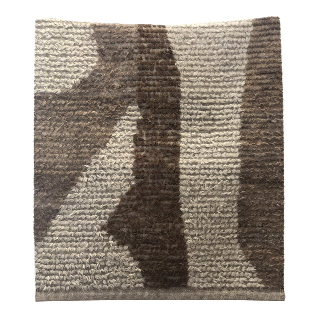 Turkish Wool Accent Rug - 2′12″ × 3′9″ For Sale