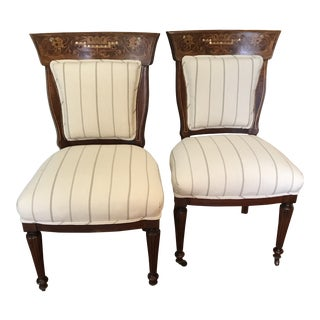Late 19th Century Victorian Side Chairs-a Pair For Sale