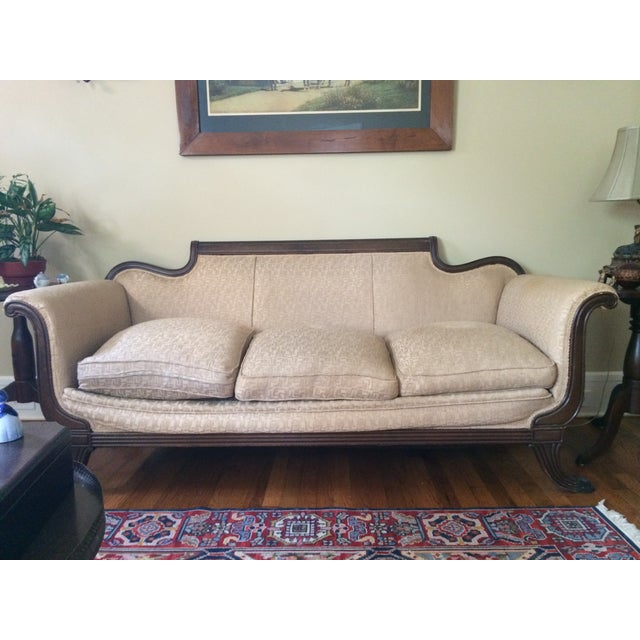 Traditional Duncan Phyfe Antique Sofa For Sale - Image 3 of 8