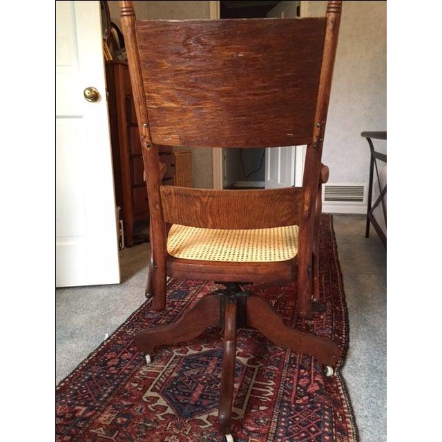 1940s Vintage Cane Office Chair - Image 5 of 8