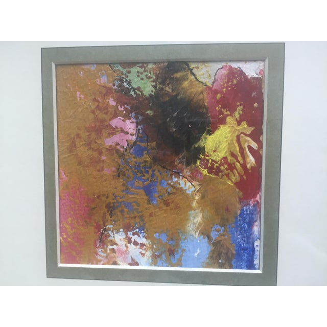 Original Abstract Painting Framed and Matted - Image 5 of 5