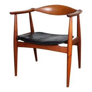 Hans Wegner Ch 35 Chair for Carl Hansen and Son Vintage Scandinavian Modern in Teak For Sale