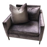 Image of Abc Home and Carpet Cobble Hill Purple Velvet Chair For Sale