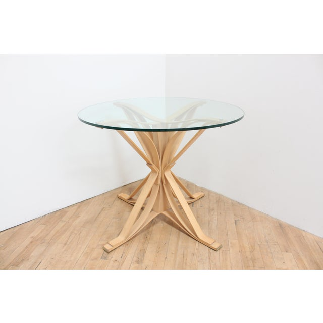 1990s 1992 Frank Gehry Face Off Table for Knoll- Maple and Glass For Sale - Image 5 of 9