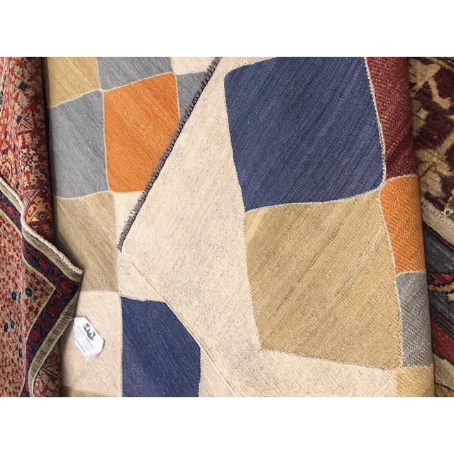 """2010s Aara Rugs Inc. Modern Hand Knotted Kilim - 13'0"""" X 10'8"""" For Sale - Image 5 of 5"""