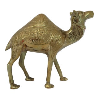 Brass Etched Camel Figurine For Sale