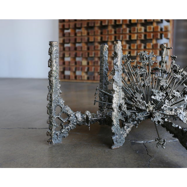 Sculptural Brutalist coffee table by Daniel Gluck, circa 1975.