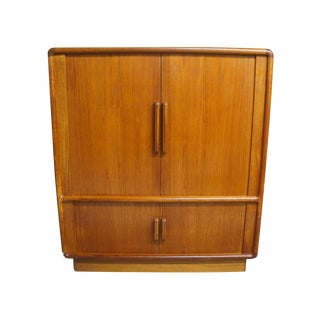 Dyrlund Danish Modern Solid Teak Media Center