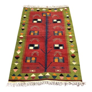 Red Turkish Kilim Rug For Sale
