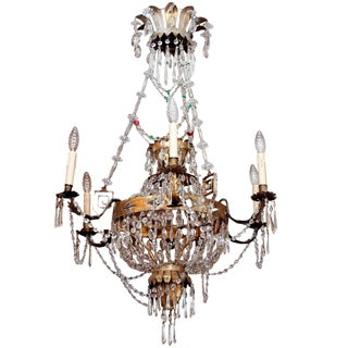 AN EARLY 19C TUSCAN CHANDELIER For Sale