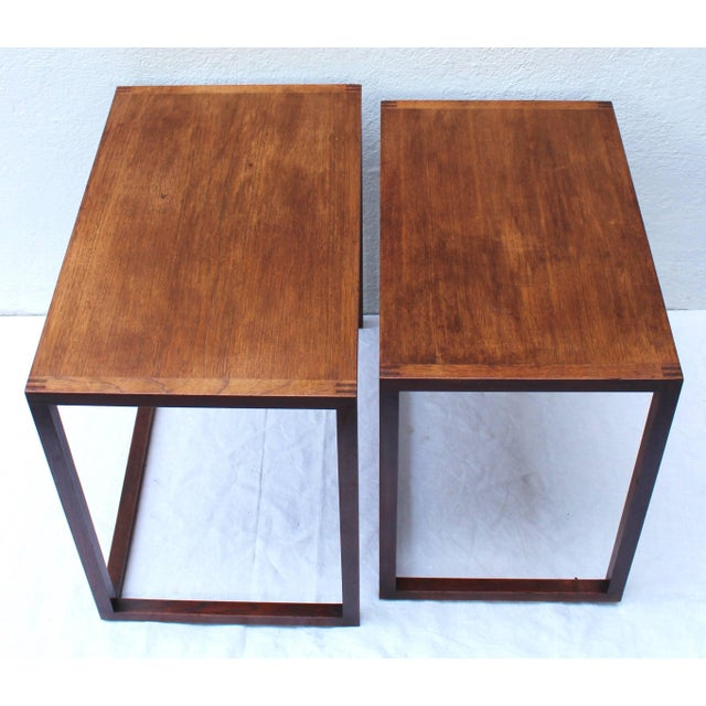 Mid 20th Century Set of Two Swedish Nesting Tables by Karl Erik Ekselius For Sale - Image 5 of 9