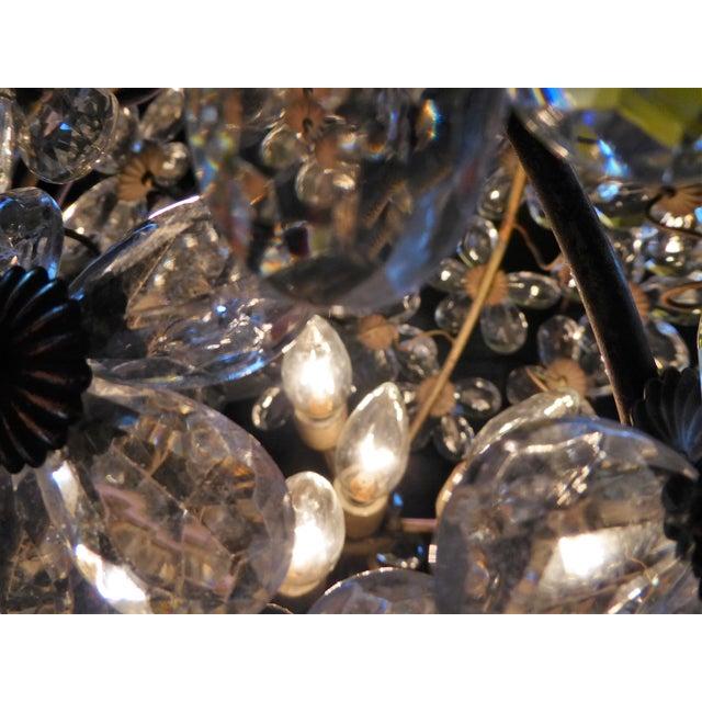 Gold Maison Baguès Floral Crystal Ball Form Chandelier, 1920s For Sale - Image 8 of 12
