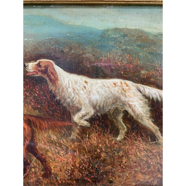"""Traditional """"Setters on the Yorkshire Moors"""" Pair of Oil Paintings by Herbert St. John Jones - A Pair For Sale - Image 3 of 7"""