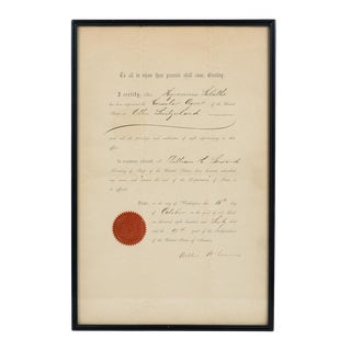 US Consular Agent in Switzerland 1866 Document For Sale