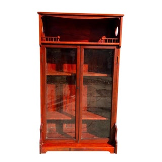 19th Century Antique Red Maple Eastlake Victorian Farmhouse Etagere For Sale