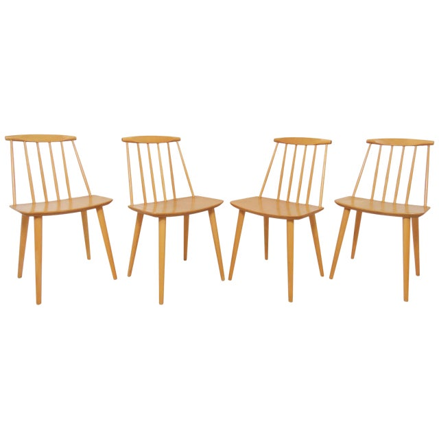 Set of Four Folke Palsson for Fdb Mobler, Denmark Dining Chairs, Circa 1975 For Sale