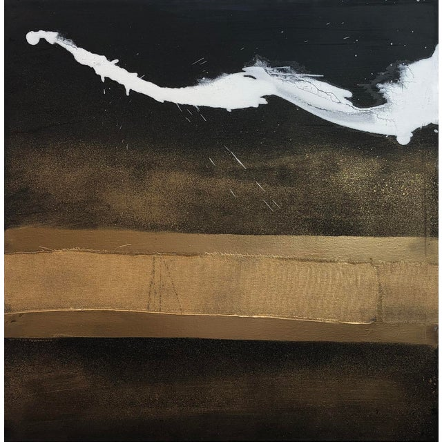 Black Karen Green Recor 'Elan I' Painting, 2015 For Sale - Image 8 of 8