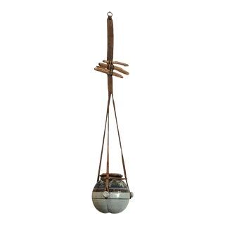 Vintage Hanging Ceramic Water Vessel For Sale