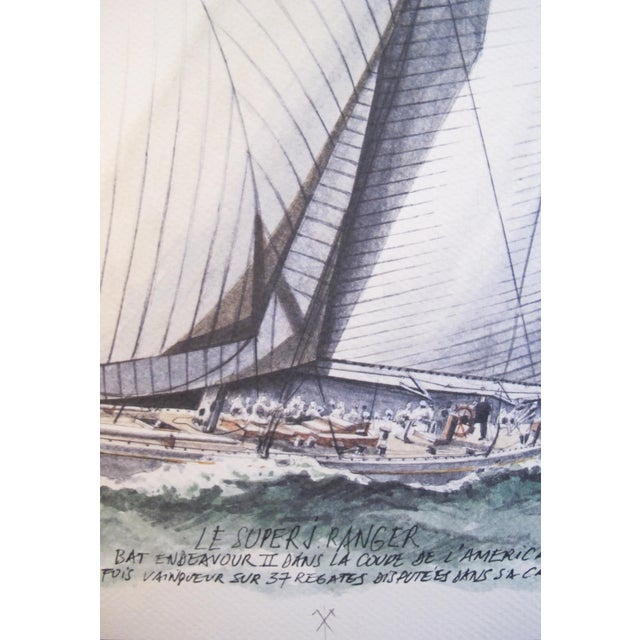 French 1995 America's Cup Sailing Poster, Ranger II Yacht For Sale - Image 3 of 5