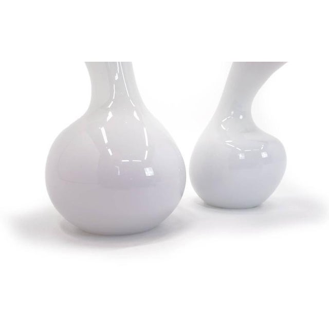 1990s Jeff Zimmerman Pair of Glass Vessels For Sale - Image 5 of 5