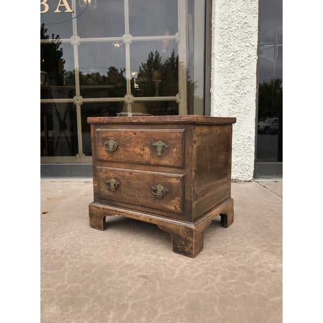 Traditional 19th Century George III Oak Trunk For Sale - Image 3 of 8