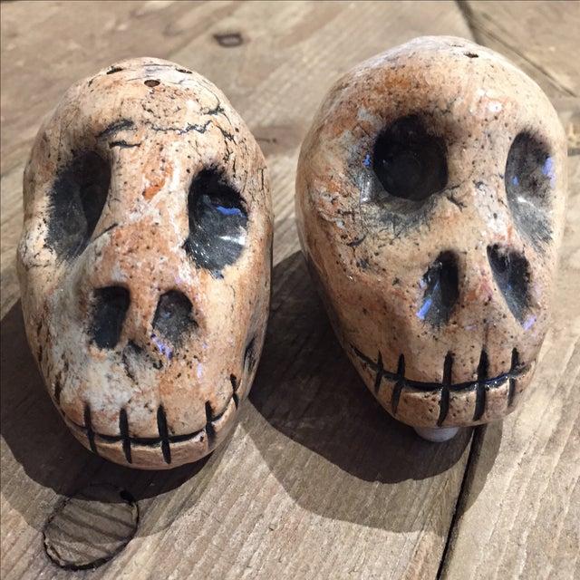 Folk Art Skull Salt & Pepper Shakers - A Pair - Image 7 of 7