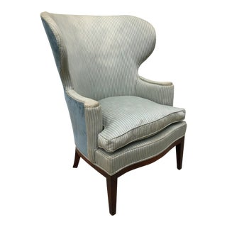 1940s Shabby Chic Edward Wormley for Dunbar Wingback Chair For Sale