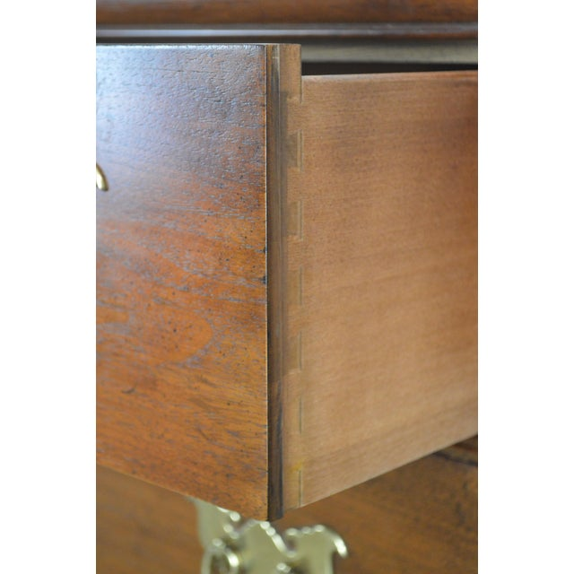 "Henredon Folio Eleven 80"" Long Mahogany Asian Inspired Dresser W/ Butterfly Hardware For Sale - Image 11 of 13"
