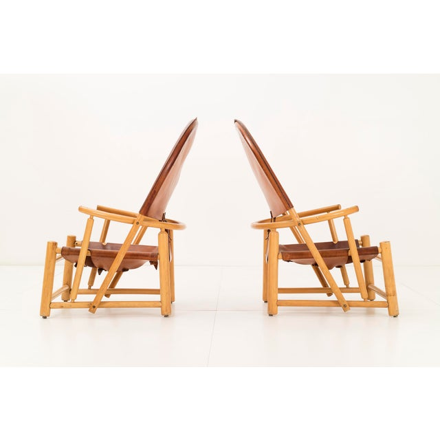 """Mid-Century Modern Pair of Werther Toffoloni and Piero Palange """"Hoop"""" Lounge Chairs For Sale - Image 3 of 10"""