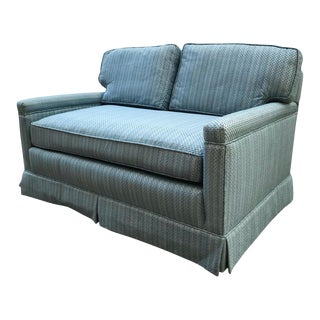 Vintage Blue Striped Sofa For Sale