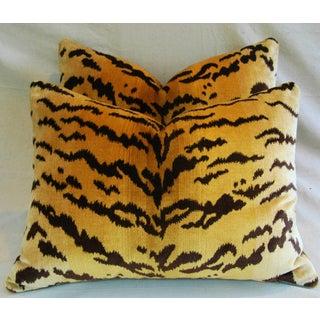 Custom Italian Scalamandre Le Tigre/Mohair Feather/Down Pillows - Pair Preview