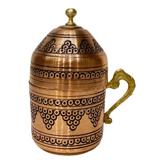 Turkish Copper Coffee Cup For Sale
