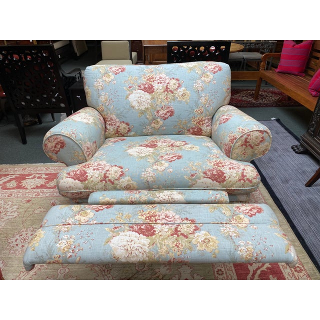 La-Z Boy Shabby Chic Arm Chair Recliner For Sale In San Francisco - Image 6 of 12