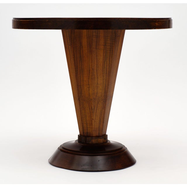 Art Deco Period Walnut Gueridon Table For Sale In Austin - Image 6 of 10