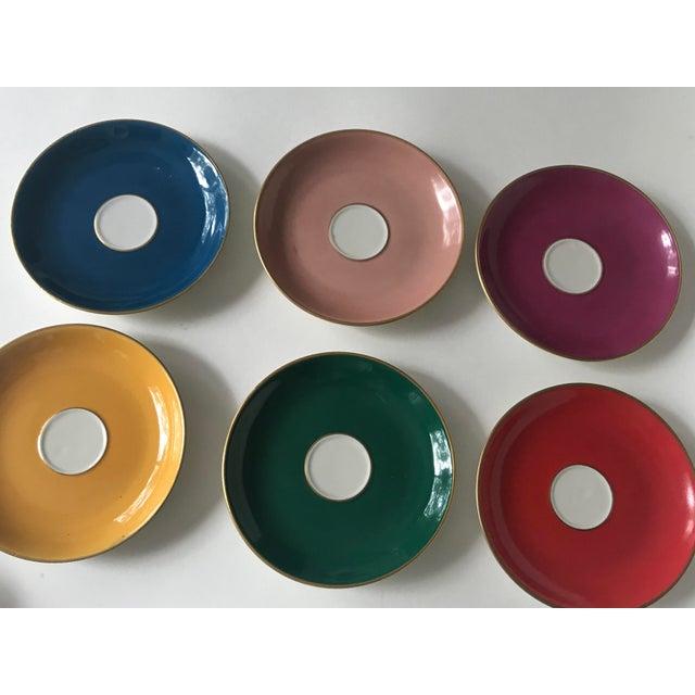 Mid 20th Century Mid Century Italian Richard Ginori Tea Cups/Demitasse Set - Set of Six, 12 Pieces For Sale - Image 5 of 13