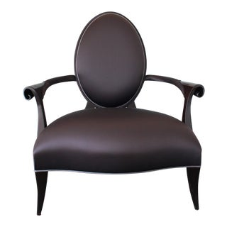 Christopher Guy Villepin Silk Cut Back Chair For Sale