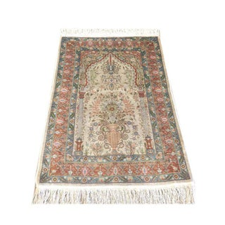 Authentic Turkish Floral Silk Hereke Rug Preview