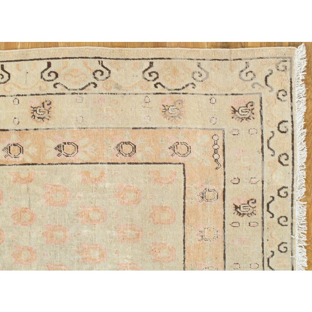 Traditional Late 19th Century Antique Khotan Rug - 8′2″ × 15′8″ For Sale - Image 3 of 11
