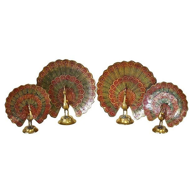 Brass Peacocks - Set of 4 - Image 2 of 5