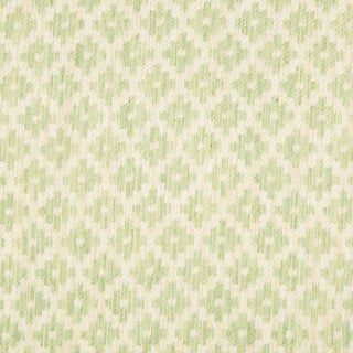 English Traditional Brunschwig & Fils Baronet Strie in Celery - 55ʺW × 240ʺD For Sale
