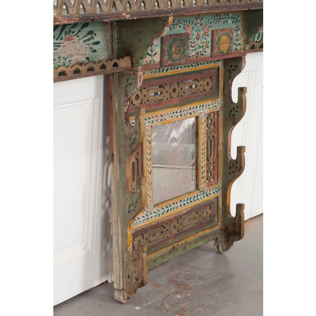 Austrian Early 19th Century Hand-Painted Pine Wall Mounted Coat Rack For Sale - Image 9 of 13