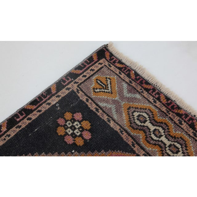 """Drawing/Sketching Materials 1960s Turkish Pure Wool Carpet - 43"""" X 21"""" For Sale - Image 7 of 11"""