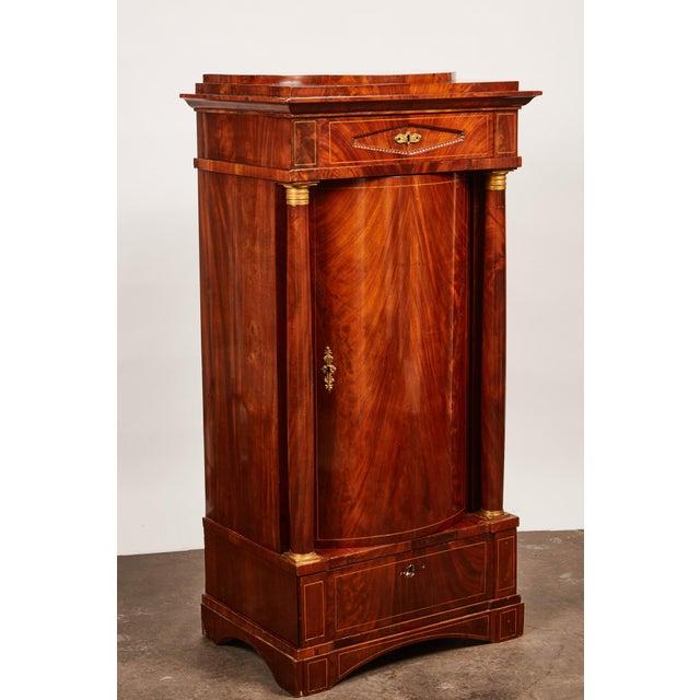 19th Century Danish Mahogany Empire Cabinet For Sale - Image 9 of 11