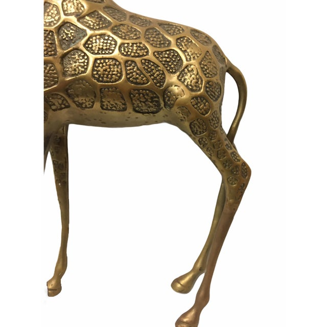 Vintage Mid-Century Brass Giraffe For Sale In San Francisco - Image 6 of 8