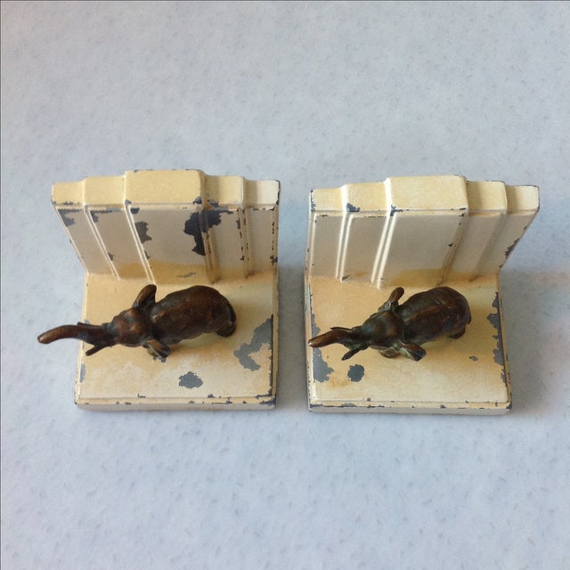 Art Deco Elephant Bookends - A Pair - Image 9 of 11