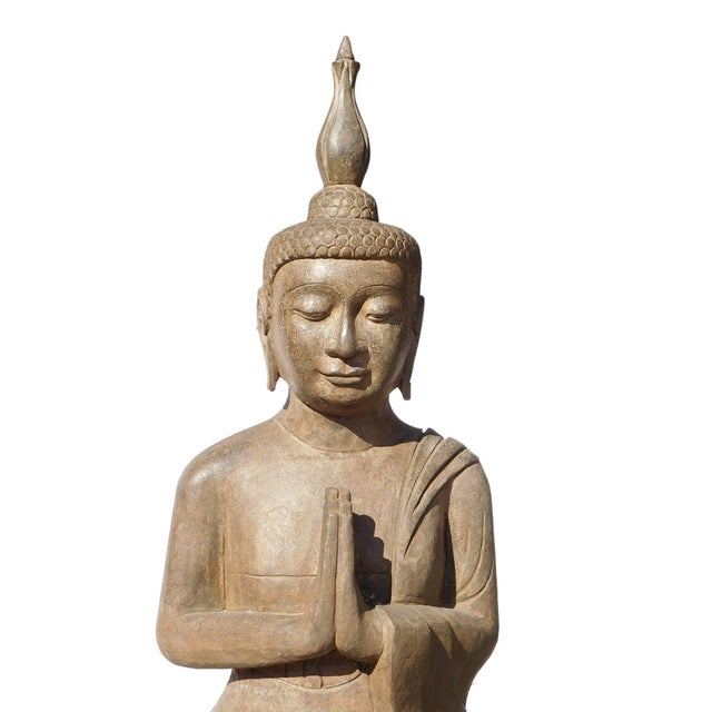 Asian Buddha Meditation Statue - Image 4 of 6
