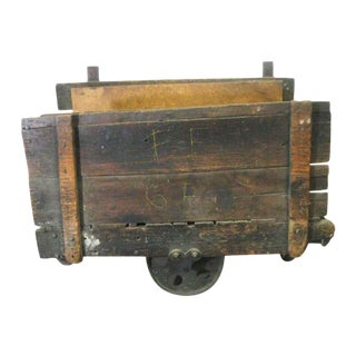Antique Factory Cart on Wheels For Sale
