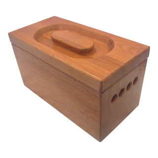 1970s Danish Modern Teak Ice Chest Bucket For Sale