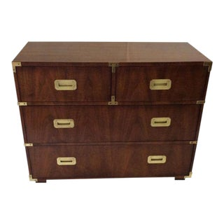 Vintage Henredon Campaign Chest For Sale
